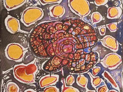 Divine Anatomy: Brain (24″ x 24″) by Idakatherine Graver