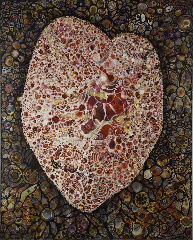 Divine Anatomy: Heart (60″ x 48″) by Idakatherine Graver
