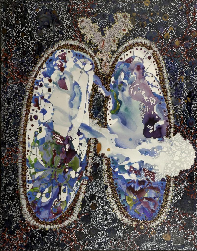 Divine Anatomy: Lungs (60″ x 48″) by Idakatherine Graver
