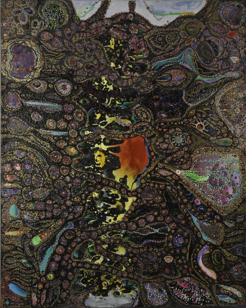 Divine Anatomy: Spine (60″ x 48″) by Idakatherine Graver