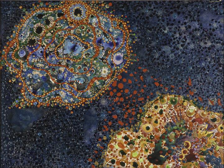 Heaven, Earth One (26″ x 34″) by Idakatherine Graver